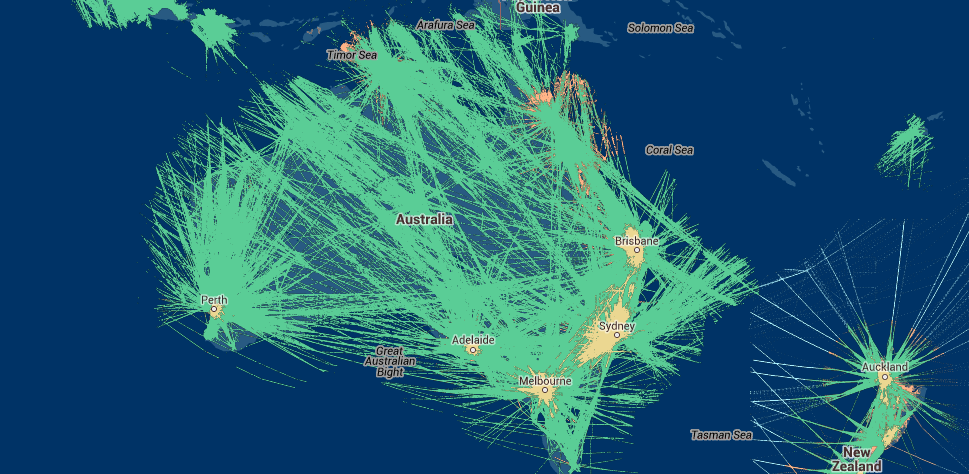 FlightAware Australia ADS-B Coverage