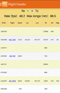 FlightAware Android Flight Feeder