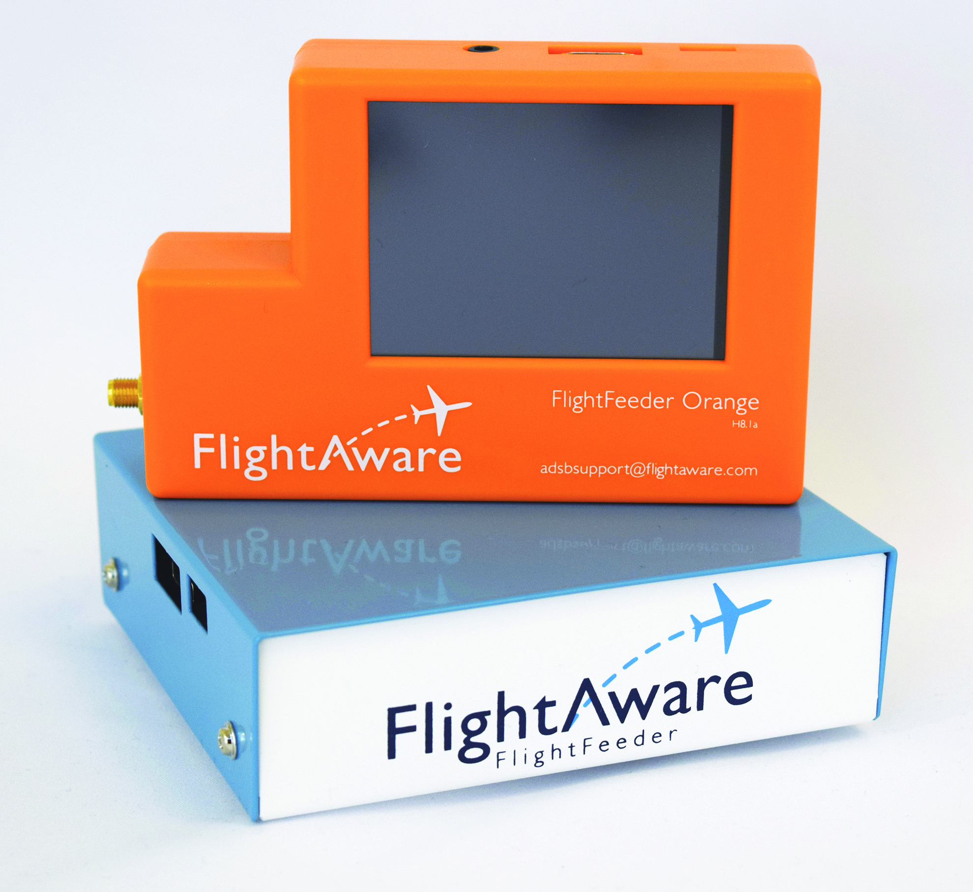 FlightAware Orange and Blue FlightFeeders