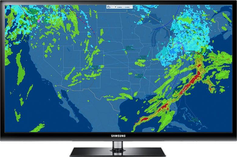 FlightAware TV Fleet Full Screen
